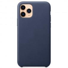 Чехол Leather Case для iPhone 11 - Темно-Синий