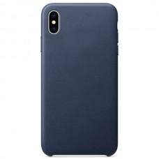 Чехол Leather Case для iPhone X/XS - Темно-Синий