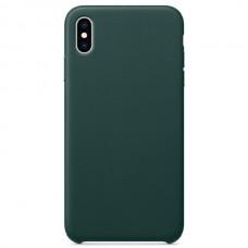 Чехол Leather Case для iPhone X/XS - Зеленый