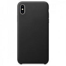 Чехол Leather Case для iPhone XR- Черный