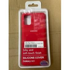 Чехол Silicone Cover для Samsung A01 - Красный