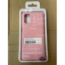 Чехол Silicone Cover для Samsung A70 - Розовый