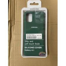 Чехол Silicone Cover для Samsung A31 - Зеленый