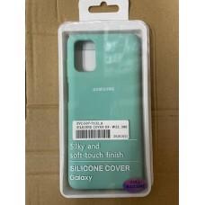 Чехол Silicone Cover для Samsung A51 - Мятный