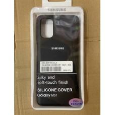 Чехол Silicone Cover для Samsung A31 - Черный