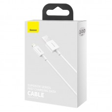 Кабель Baseus Superior Series Fast Charging Data Cable USB to iP 2.4A 1m (CALYS-A02) - White