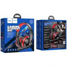 Наушники hoco игровые W103 Magic tour gaming headphones - Red