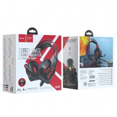 Наушники hoco игровые W102 Cool tour - Red