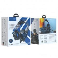 Наушники hoco игровые W102 Cool tour - Blue