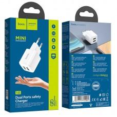 Сетевой адаптер hoco N8 Briar dual port charger