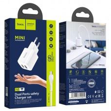 Зарядное устройство hoco N8 Briar dual port charger set (Micro) (EU)
