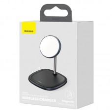 Беспроводная зарядка Baseus Swan Magnetic Desktop Bracket Wireless Charger (suit for IP12) (WXSW-01) - Black