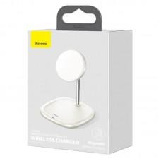 Беспроводная зарядка Baseus Swan Magnetic Desktop Bracket Wireless Charger (suit for IP12) (WXSW-02) - White