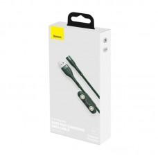 Кабель Baseus Zinc Magnetic Safe Fast Charging Data Cable USB to M+L+C 5A 1m (CA1T3-B06) - Green