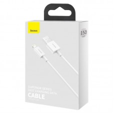 Кабель Baseus Superior Series Fast Charging Data Cable USB to iP 2.4A 1.5m (CALYS-B02) - White