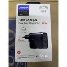 Сетевой адаптер Joyroom L-QP361 Fast Charger PD+QC 3.0 36W