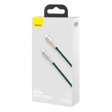 Кабель Baseus Cafule Series Metal Data Cable Type-C to iP PD 20W 1m (CATLJK-A06) - Green