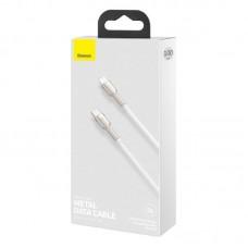 Кабель Baseus Cafule Series Metal Data Cable Type-C to iP PD 20W 1m (CATLJK-A02) - White
