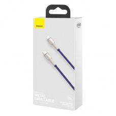 Кабель Baseus Cafule Series Metal Data Cable Type-C to iP PD 20W 1m (CATLJK-A05) - Purple