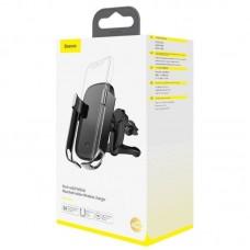 Автомобильный держатель с беспроводной зарядкой Baseus Rock-solid Vehicle Mounted Holder Wireless charger (WXHW01-01) - Black