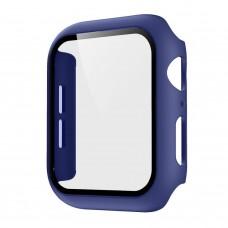 Чехол с защитным стекло для Apple Watch 38mm - Синий