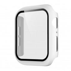 Чехол с защитным стекло для Apple Watch 38mm - Белый
