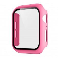 Чехол с защитным стекло для Apple Watch 38mm - Розовый