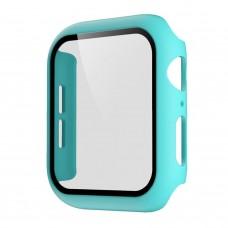 Чехол с защитным стекло для Apple Watch 38mm - Бирюзовый