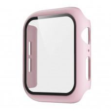 Чехол с защитным стекло для Apple Watch 38mm - Пудра