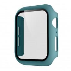 Чехол с защитным стекло для Apple Watch 38mm - Зеленый