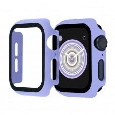 Чехол с защитным стекло для Apple Watch 40mm - Лаванда