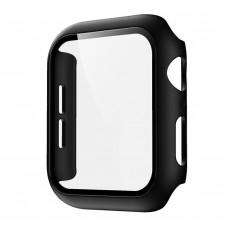 Чехол с защитным стекло для Apple Watch 42mm - Черный