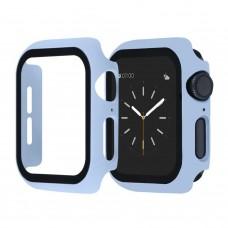 Чехол с защитным стекло для Apple Watch 44mm - Голубой