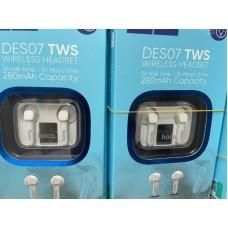 Беспроводные наушники hoco DES07 TWS - White