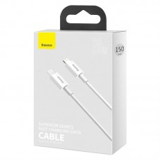 Кабель Baseus Superior Series Fast Charging Data Cable Type-C to iP PD 20W 1.5m (CATLYS-B02) - White