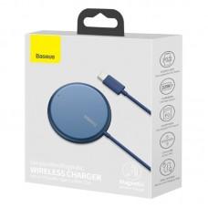 Беспроводная зарядка Baseus Simple Mini Magnetic Wireless Charger (suit for IP12 with Type-C cable 1.5m) (WXJK-H03) - Blue