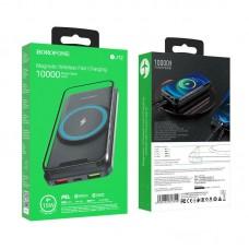 Power Bank Borofone BJ12 10000mAh Magnetic Wireless - Black