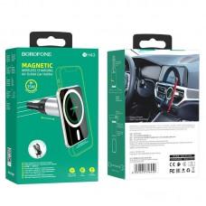 Автомобильный держатель Borofone BH43 Xperience с беспроводной зарядкой