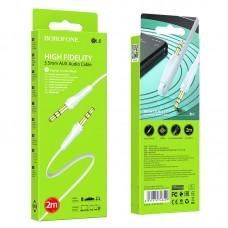 Аудио-кабель Borofone BL6 AUX 2m - White
