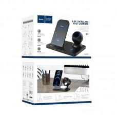 Беспроводное зарядное устройство hoco CW33 Ultra-Charge 3 в 1 - Black