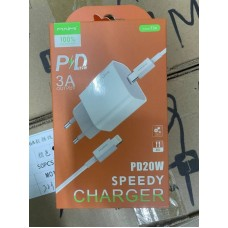 Зарядка MAIMI T36 PD 20W Lightning/Type-C - White
