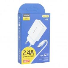 Зарядка MAIMI T28 Lightning 2 USB - White