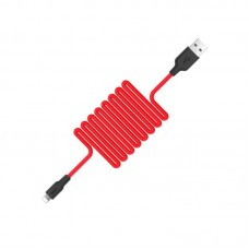 Кабель hoco X21 Silicone Lightning- Red