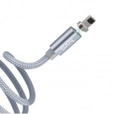 Кабель hoco U40A magnetic adsorption lightning - Grey