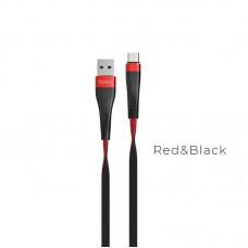 Кабель hoco U39 Slender Type-c - Черно/Красный