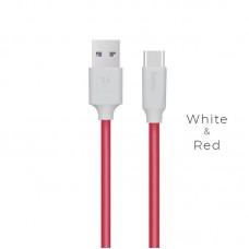 Кабельhoco X11 5A Rapid Type-C - Бело/Красный