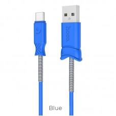 Кабель hoco X24 Pisces Type-C - Синий