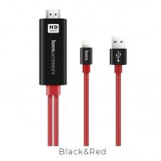 Переходник hoco UA4 Apple HDMI - Черно/Красный