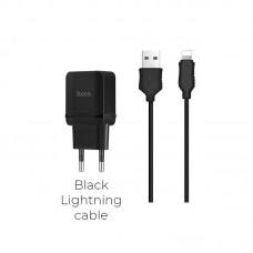 Зарядка hoco C22A Little (lightning) - Черный