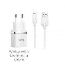 Зарядка hoco C12 Smart (Lighting) - Белый
